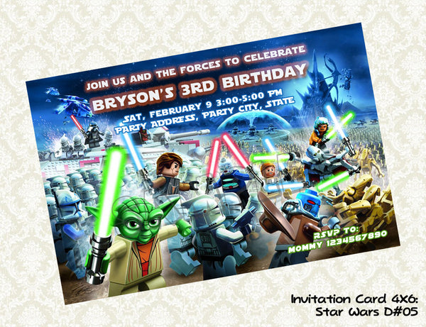 Star Wars Invitation - Star Wars Birthday party printable (4x6) -5