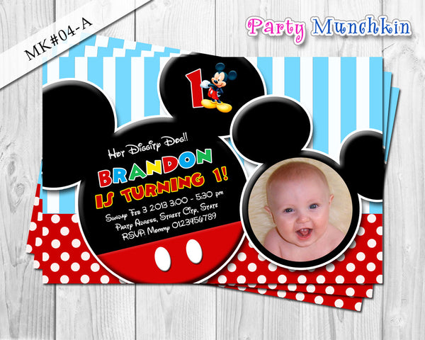 DIY Mickey Mouse Invitation - Mickey party printables for mickey mouse inspired birthday theme