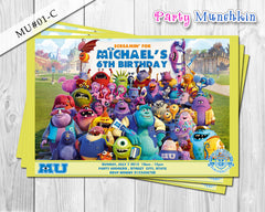 MONSTER UNIVERSITY Invitation, Monster University Personalized Invite for Monster University Birthday - DIY Printable
