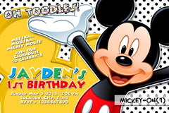 Mickey Mouse DIGITAL Invitation For Mickey Mouse Birthday Party (White Background)