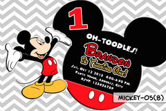 Mickey Mouse PRINTABLE Invitation For Mickey Mouse Birthday (Chevron Design)