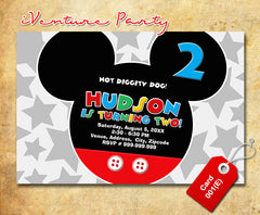 Mickey mouse Invitations - Mickey mouse printables for mickey inspired Birthday
