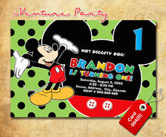 Mickey Invitation - Mickey party printables for mickey mouse inspired birthday theme