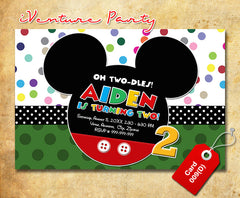 Mickey Invitations - digital Mickey birthday card for baby shower or birthdays