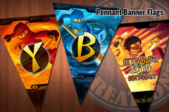 Ninjago Pennant Banner (Personalized + Child's name)
