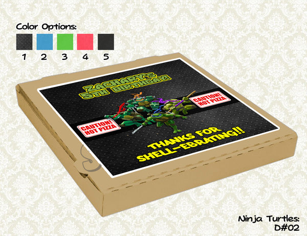 Teenage Mutant Ninja Turtles Pizza Box Label- Ninja Turtles Birthday Party - TMNT printable pizza box topper (8x8)