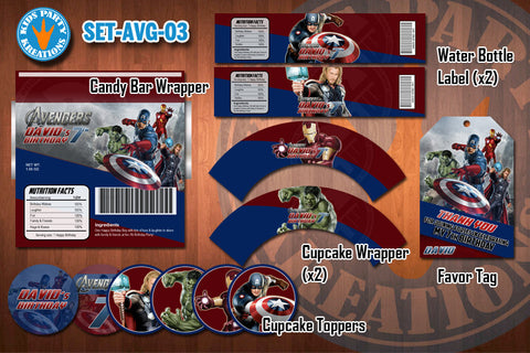 AVENGERS Birthday Party Printable Decor Pack - STARTER SET Promotion 03