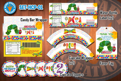 HUNGRY CATERPILLAR Birthday Party Printable Decor Pack - STARTERSET