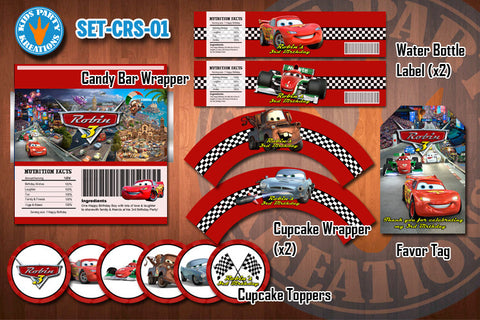 CARS 2 Birthday Party Printable Decor Pack - STARTER SET