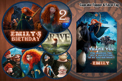 BRAVE Birthday Party Printable Decor Pack - STARTER SET