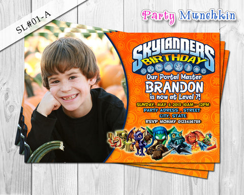 DIY SKYLANDERS Invitations, Skylanders Invite for Skylanders Adventure Birthday or Skylanders Giant Party - DIY PRINTABLE