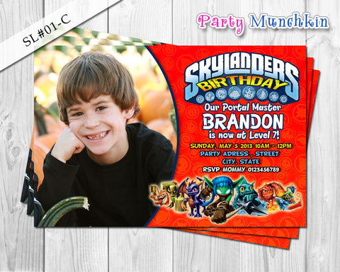 Digital SKYLANDERS Invitations, Skylanders Invite for Skylanders Adventure Birthday or Skylanders Giant Party - DIY PRINTABLE