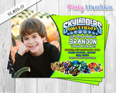 SKYLANDERS Photo Invitations, Skylanders Photo Invite for Skylanders Adventure Birthday or Skylanders Giant Party - DIY PRINTABLE