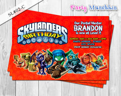 SKYLANDERS Invitations, Skylanders Invite for Skylanders Adventure Birthday or Skylanders Giant Party - DIY PRINTABLE