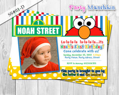 ELMO invitation, Photo Invitation for Elmo Sesame Street birthday party