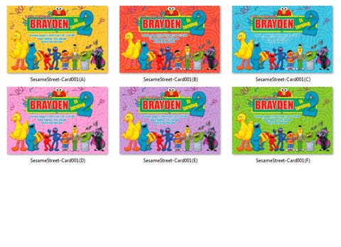 Sesame Street birthday Invitation, Sesame Street printable invite