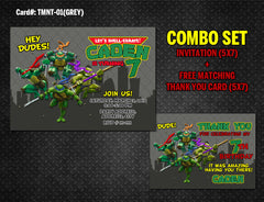 Ninja Turtles DIGITAL Invitation for Teenage Mutant Birthday - (TMNT-01-Green)