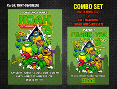 Ninja Turtles Invitation for TMNT Birthday - DIY Printable (Red)
