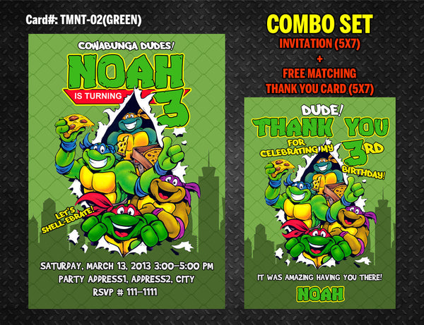 picture regarding Printable Ninja Turtle Invitations named Ninja Turtles Invitation for TMNT Birthday - Do it yourself Printable