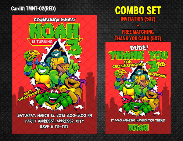 image relating to Ninja Turtles Invitations Printable called Ninja Turtles Invitation for TMNT Birthday - Do-it-yourself Printable