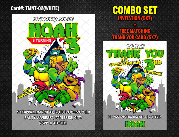 graphic about Ninja Turtles Invitations Printable named Ninja Turtles Invitation for TMNT Birthday - Do-it-yourself Printable