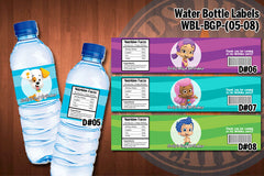 BUBBLE GUPPIES Water Bottle Labels - Printable for Bubble Guppies Birthday Party (CHOOSE from 8 designs)