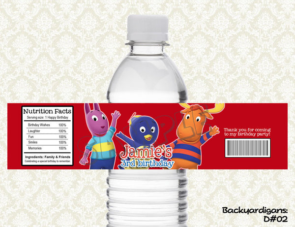 Backyardigans Water Bottle Label - Printable & Personalized for Backyardigans Birthday Party D#2