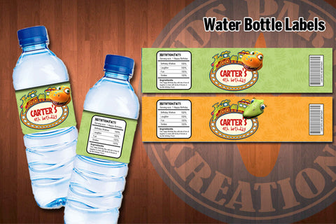DINOSAUR TRAIN Water Bottle Labels - Printable Favor Label for Dinosaur Train Birthday Party (Set of 2) PROMOTION