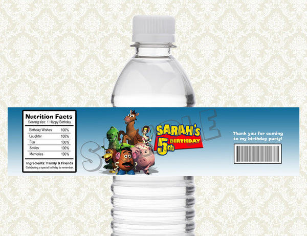 Toy Story Water Bottle Label - Printable & Personalized for Toy Story Birthday Party D#2