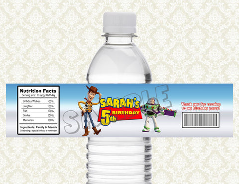 Toy Story Water Bottle Label - Printable & Personalized for Toy Story Birthday Party D#1
