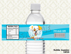 Bubble Guppies Water Bottle Label - Printable & Personalized for Bubble Guppies Birthday Party