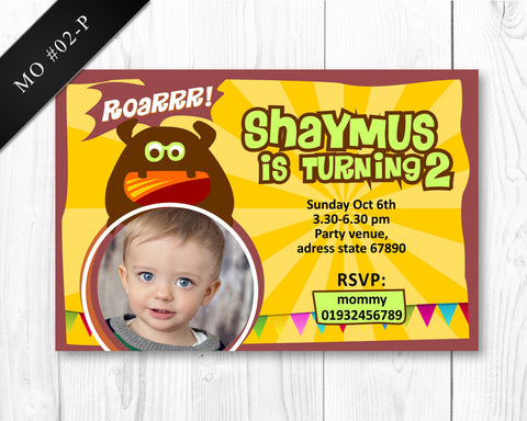 Monster Invitation - Birthday printable for boys monster party