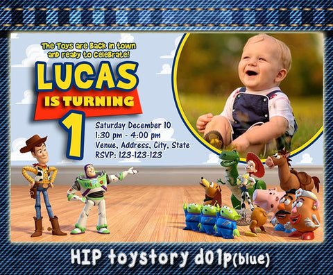 Digital TOY STORY Invitation - Toy Story Birthday  Toy Story Party Printable Invitation