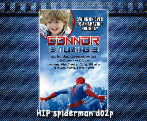 Printable Spiderman Invitation - Spiderman Birthday, Spiderman printable invite