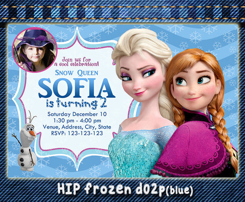 Frozen Invitation, Elsa and Anna printable invite for frozen birthday