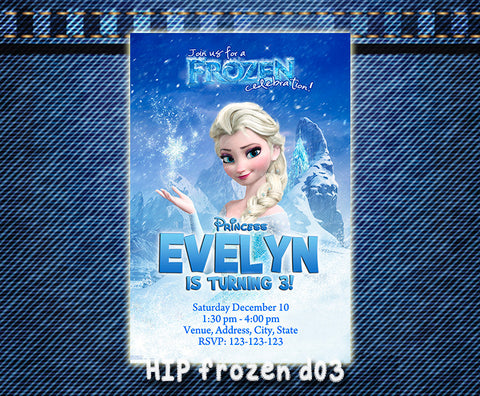 Frozen Invitation,  Elsa printable invite for frozen birthday