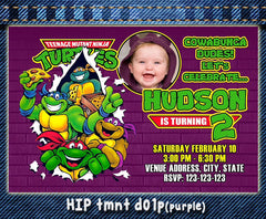 Teenage Mutant Ninja Turtles Photo Invitations- Ninja Turtles Birthday Party