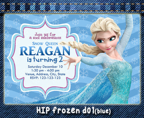Frozen birthday Invitation, Elsa and Anna printable invite