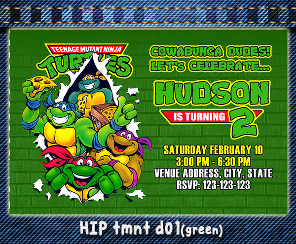 TMNT Birthday Invitations- Ninja Turtles Birthday Party - Ninja Turtles printable birthday inviteTeenage Mutant Ninja Turt