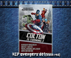 Avengers Invitation - Birthday party printable card