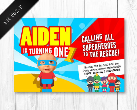 Superhero Invitation - Birthday printable for boys superhero party