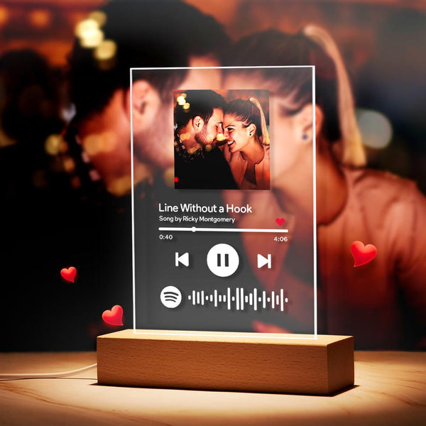 Custom Spotify Music Photo Plaque Night Light/Keychain/Plaque