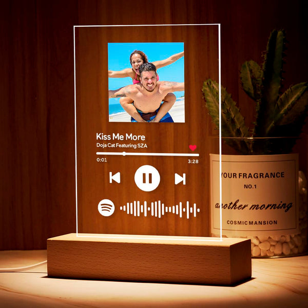 Custom Spotify Music Plaque Night Light/Keychain/Plaque