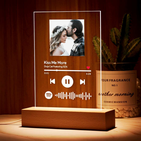 Custom Spotify Music Photo Plaque Night Light/Keychain/Plaque Wedding Gift