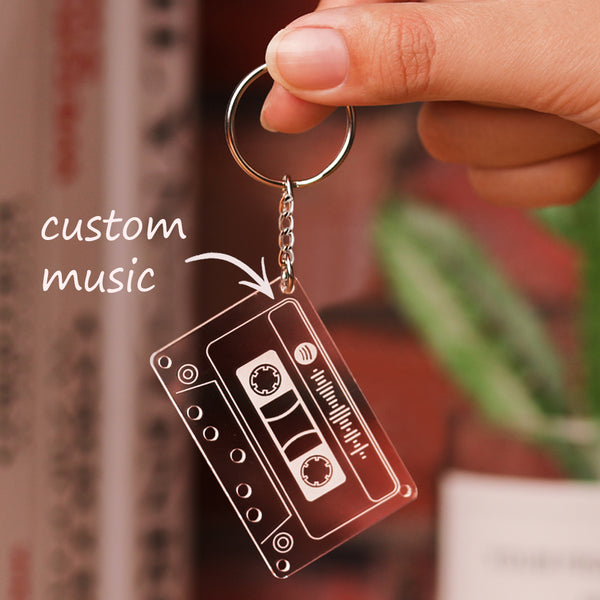 Custom Spotify Code Music Song Keychain Scannable Gifts