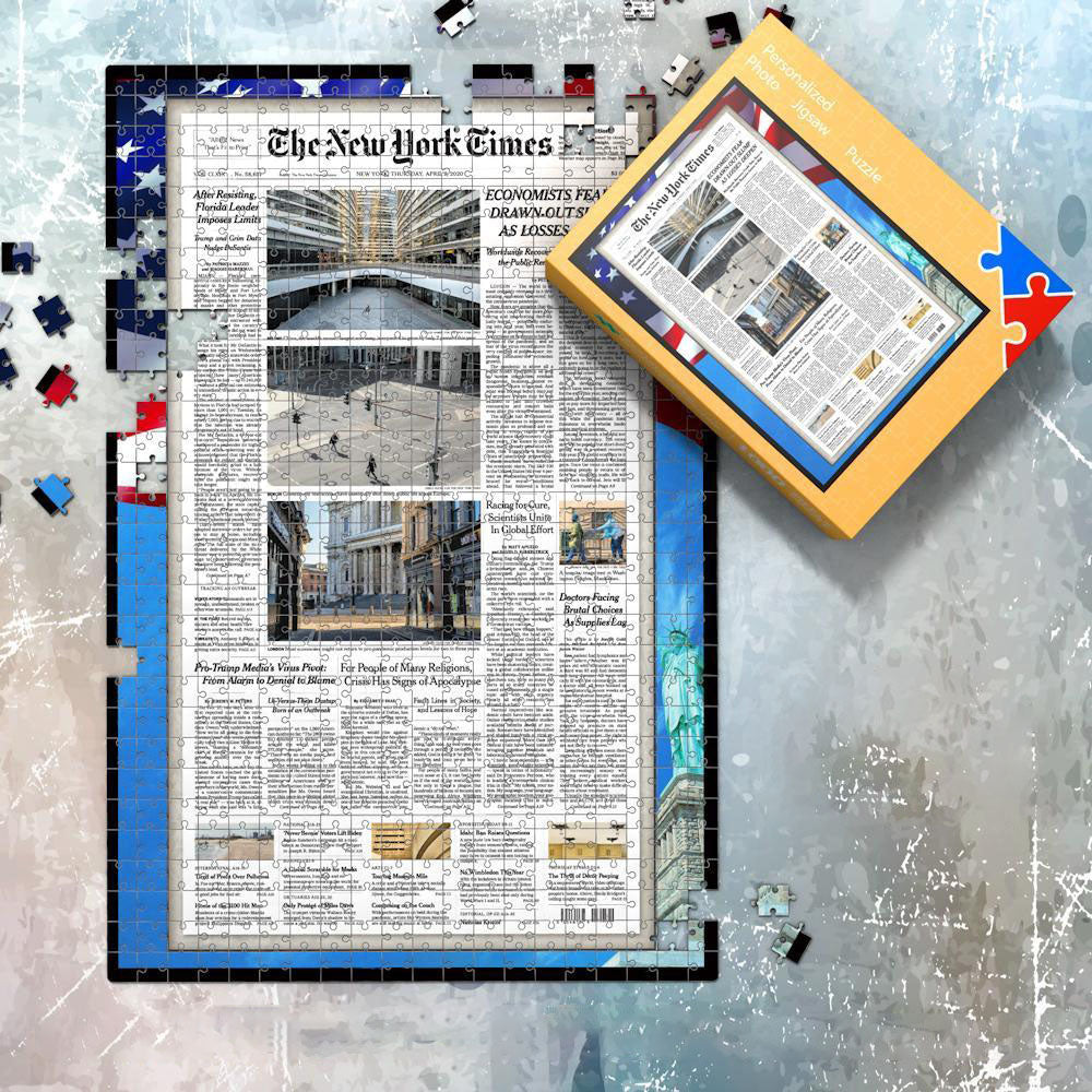 The New York Times Jigsaw Puzzle News Paper Puzzle Personalized From A Specific Date Your Memory Day Puzzle - 1000 Pieces Max