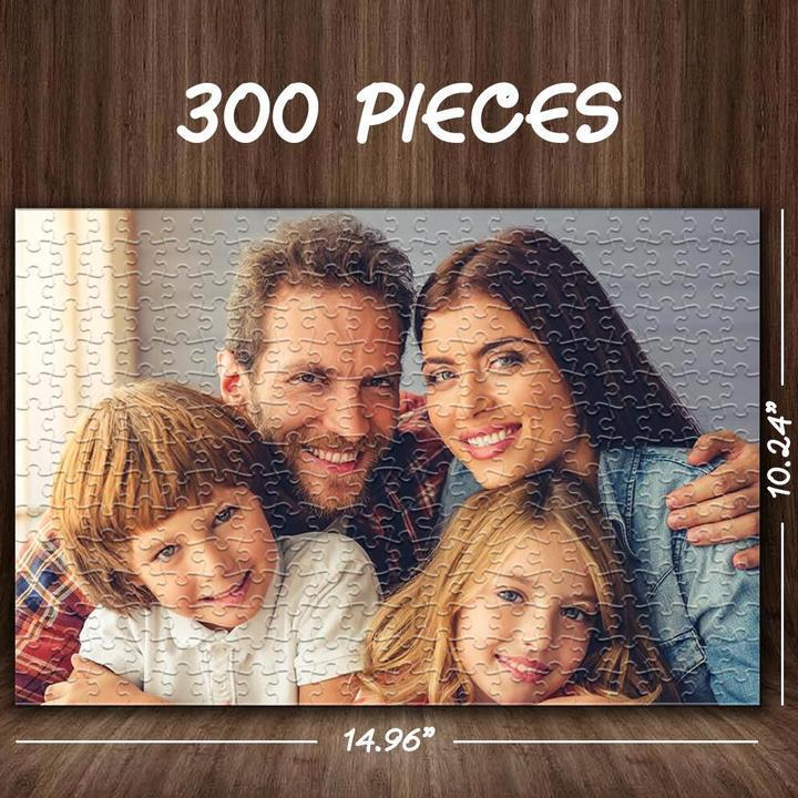 Custom Photo Jigsaw Puzzle Gift for Dad or Husband Best Indoor Gifts 300-1000 pieces