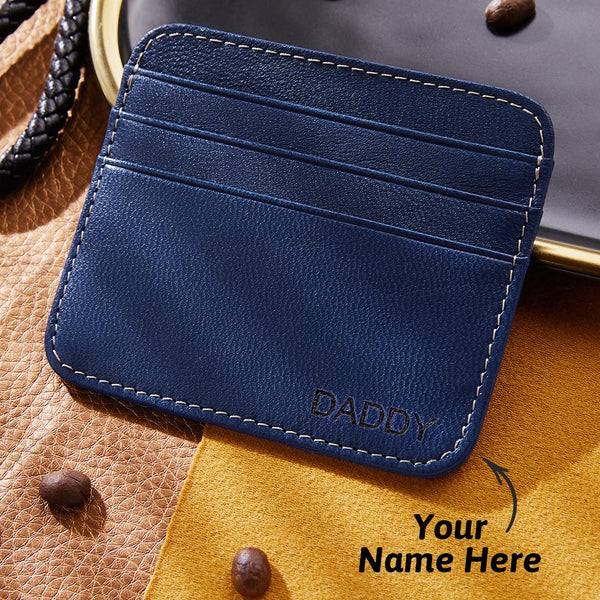 Vintage Leather Personalised Credit Card Holder