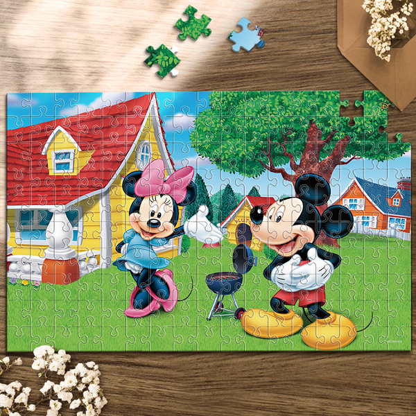Jigsaw Puzzle Disney Funny Story-Minnie & Mickey-35-1000 pcs