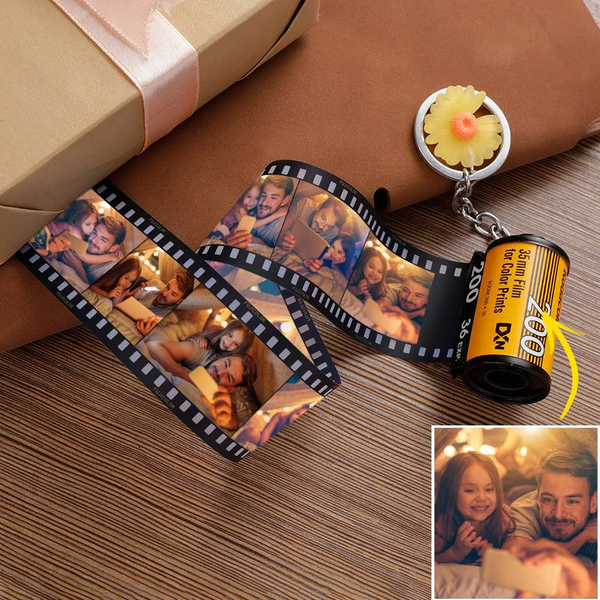 Custom Photo Keychain | Personalized MultiPhoto Camera Roll Keychain | Best Gift For Father